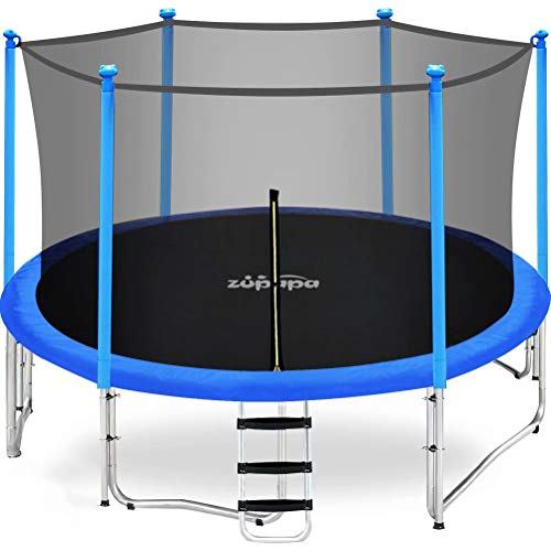 Zupapa 15FT 14FT 12FT 10FT 8FT Kids Trampoline 425LBS Weight Capacity...