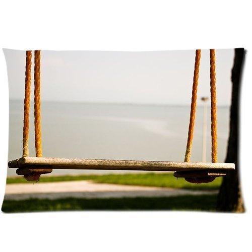 Funny Swing Housse d'oreiller zippée 50,8 x 76,2 cm