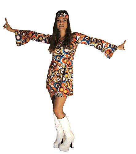 60s 70s Swirl Hippy Retro Gogo Abendkleid Größe 3XL (Frauen: 20-22)