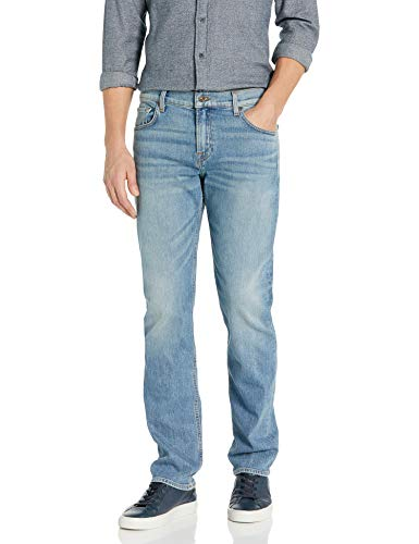 7 For All Mankind mens for All Mankind Slimmy Straight Leg Denim Pant Jeans, Traction, 36W x 34L US