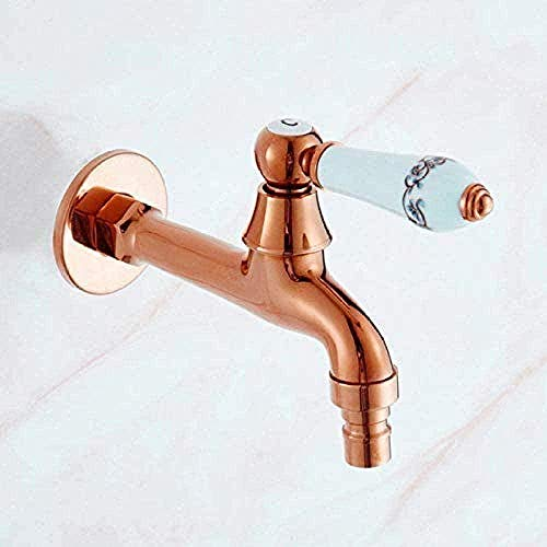 WNBNKSN Faucet Tap Washing Machine Faucet Single Cold Mop Pool Tap Outdoor Garden Faucet Bibcock Tap Bathroom Washing Machine Golden Water Tap Outdoor Tap