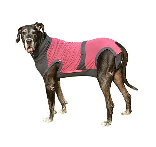 MAXX Dog Medical Pet Clothing, E Collar Alternative, Recovery Suit for Dogs, Post-Operative Vest, After Surgery Wear for Dogs, Anxiety Wrap, Abdominal Wound Protection Pet Shirt(Peacock Blue Grey -XL)