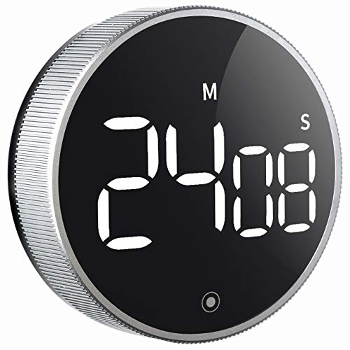 Digital Kitchen Timer, Large LED Magnetic Countdown timers with Constant Bright Function for Classroom, 3 Level Volume Silent Egg Timer for Kids Elderly
