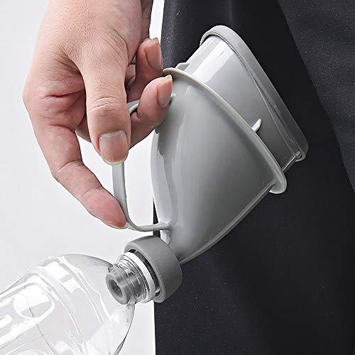 WWSZ 2pcs Portable Urinal Portátil al Aire Libre Viaje, Family Unisex Mini Toilet Urinal Bucket Viaje, Hombre Mujer with Portátil Urinal para Acampar Senderismo Viajes Largos Viajes