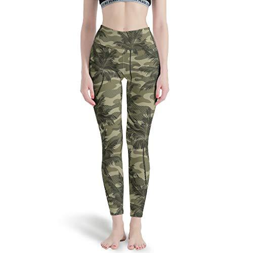 Sylves Leggings de camuflaje de coco para mujer Super Soft Pilates Pantalones de yoga para fitness blanco 3xl