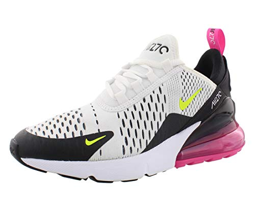 Nike Herren Air Max 270 (gs) Leichtathletikschuhe, Mehrfarbig (White/Volt/Black/Laser Fuchsia 000), 39 EU
