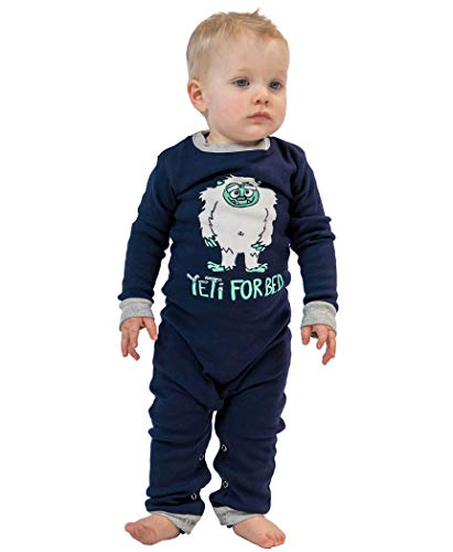 Lazy One Matching Family Pajama Sets for Adults, Kids, and Infants (Yeti for Bed, 18 MO)