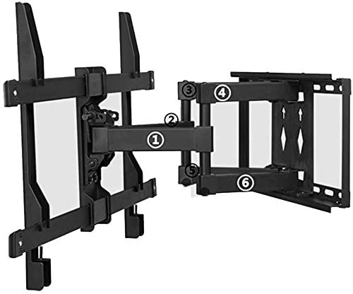 Soporte de pared de TV Horizontal Diseño de ajuste Fino Adecuado para la mayoría de las pantallas de televisión de 32-70 en la inclinación máxima VESA600X400mm Tilt + 9 DG;/ -13 deg;Girar Plusmn;45 gr
