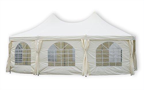 KMH®, Hochwertiges 5 x 6,8 Meter Pagoden-Festzelt mit extra dickem Stahlgestänge (#303026)