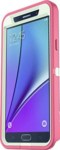 OtterBox Defender Cell Phone Case for Samsung Galaxy Note5 - Retail Packaging - Melon POP (SAGE Green/Hibiscus Pink) + Belt Clip Holster