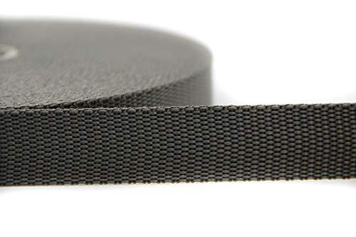 NTS-Nähtechnik 25m Gurtband aus 100% Polypropylen (grau, 20)