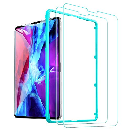"""ESR (2-Pack) Screen Protector for iPad Pro 12.9"""" 2020 & 2018, 9H-Hard HD Clear Tempered-Glass Screen Protector for The iPad Pro 12.9-Inch [2X Strength] [Scratch-Resistant]"""