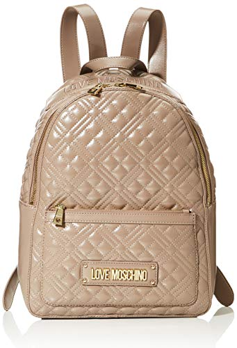 Love Moschino BORSA QUILTED NAPPA PU, Bolso de mujer, Gris, Normale