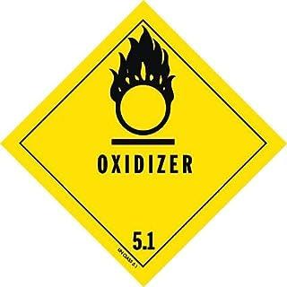 DOT Label, 4 In. H, 4 In. W, Oxidizer, PK25 - HMSL-0045-V25 - Pack of 2