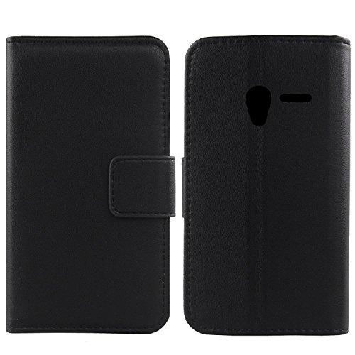 Gukas Design Echt Leder Tasche Für Alcatel One Touch Pixi 3 4.0