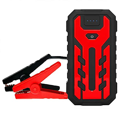 700A 28000mAh Car Jump Starter Batería emergencia Booster Herramienta eléctrica portátil para exteriores 6.0L Gasolina 5.0L Motor diesel Cargadores USB 12V Cargador linterna LED ( Color : Red )