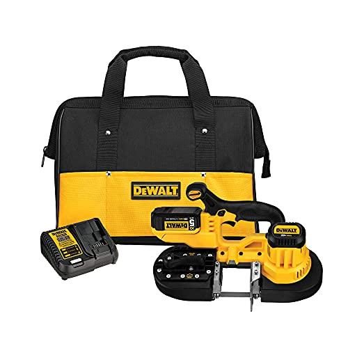 DEWALT 20V MAX Portable Band Saw Kit, Cordless (DCS371P1)