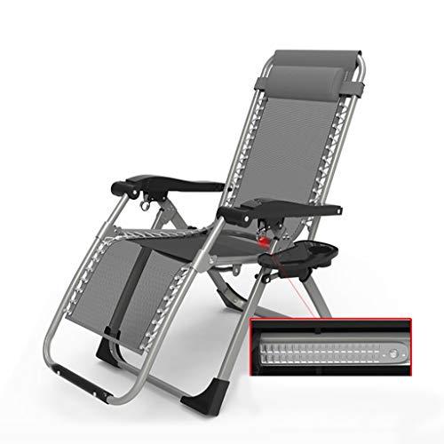 JZBar Casual Pliant Respirant Pause déjeuner Chaise Longue Simple lit Bureau Sieste lit Pliant Taille: 60 * 75 * 80-116cm (Couleur : A)