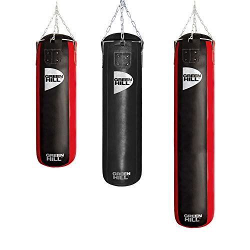 GREEN HILL SACO RELLENO PROFESIONAL PUNCHING BAG HEAVY BAG CUERO (150cm x 35cm x 50kg)