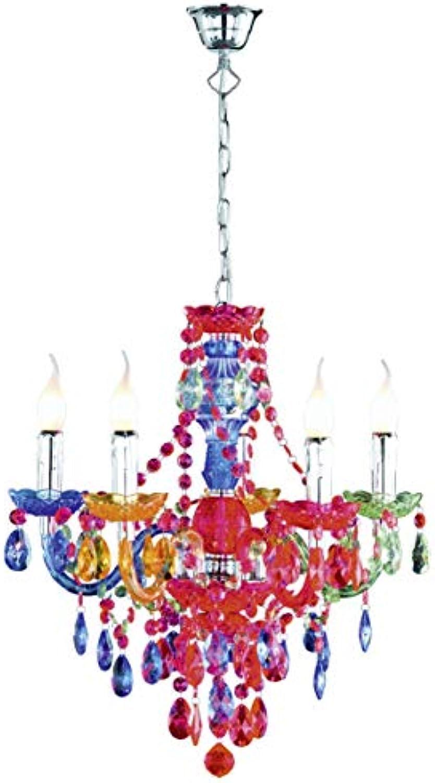 Reality Leuchten Kronleuchter Lüster 5-flammig   aus Acryl in mutlicolour   5x E14 maximal 40 W ohne Leuchtmittel     52 cm R1107-17