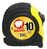 Medid MD/9310 Flexómetro con funda de goma, 10 m x 25 mm
