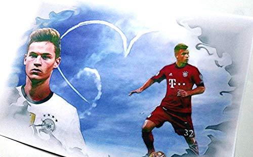 Nationalspieler JOSHUA KIMMICH ein excellenter - Kunstdruck direkt vom Künstler 30cm x 42cm