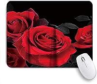 VAMIX マウスパッド 個性的 おしゃれ 柔軟 かわいい ゴム製裏面 ゲーミングマウスパッド PC ノートパソコン オフィス用 デスクマット 滑り止め 耐久性が良い おもしろいパターン (バラの美しい花の花の自然)