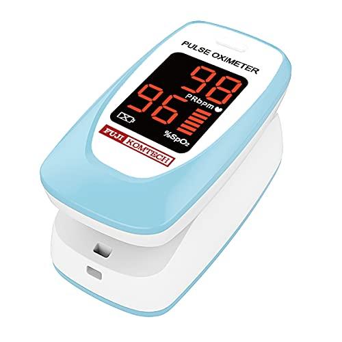 【2020年最新モデル】 パルスオキシメータ FC-P01/B ブルー 酸素濃度計 医療用 看護 家庭用 介護 国内検査済
