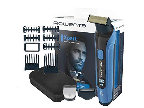 Rowenta Forever Sharp Xpert TN6200 Cortapelos hombre, cuchillas acero inoxidable duraderas, versatilidad de corte, perfilado y afeitado, autonomía 120 min, WET & DRY, incluye 7 peines y neceser