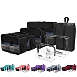 Packing Cubes YAMIU Travel Luggage Organizer Bags Travel Accessories Including 2-pack Waterproof Toiletry Bags and Shoe Bag for Women Men(7-Pcs) packing cubes Apr, 2021