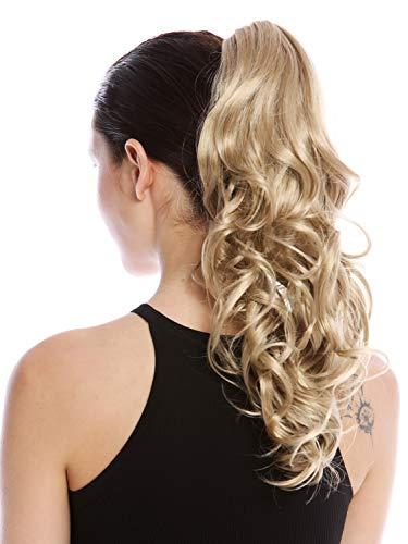 WIG ME UP - N399-V-24 Postiche queue de cheval longue légèrement bouclée blond cendré clair 45 cm