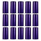 TOYANDONA 100Pcs PVC Heat Shrink Capsules Wine Shrink Wrap Wine Bottle Capsules Shrink Caps Wine Bottle Tops for Wine Cellars Home (Blue)