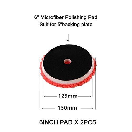 MINGMIN-DZ Pulidor de automóviles 6/7 Pulgadas Autoadhesivo Rueda de Microfibra de Pulido pulidor de tampón (Color : 6in Bevel Edge 2PC)