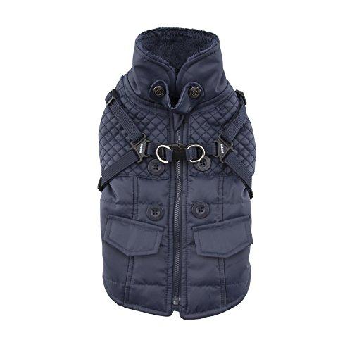 Puppia Wilkes Winter Fleece Vest, Puppia Wilkes, winter, vliesvest, Medium, donkerblauw