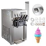 BuoQua Speiseeisbereiter Desktop Kommerzielle Softeismaschine 50Hz Eismaschine Ice Cream maker 220V...
