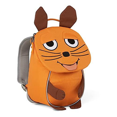 Affenzahn Kleiner Freund - Kindergartenrucksack für 1-3 Jährige Kinder im Kindergarten und Kinderrucksack für die Kita - Die Maus - Orange