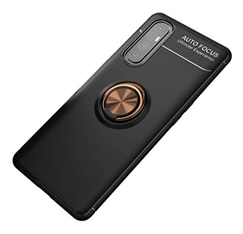 SORAKA Hülle für Oppo Find X2 Neo 5G mit 360 Grad drehbarem Ringständer Weiches Silikon Superdünn Schutzhülle mit Metallplatte für Handyhalterung Auto KFZ Magnet Stoßdämpfung Anti Fingerabdruck