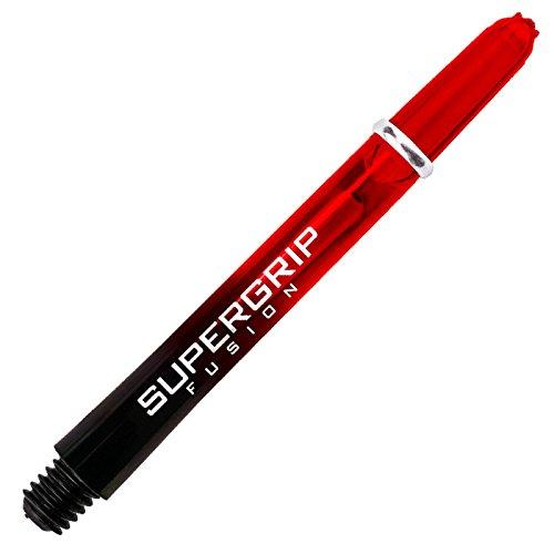 Harrows Supergrip Fusion Shafts - Verschiedene Ausführungen, 1 Set = 3 Stück (Rot, Short (SHT))