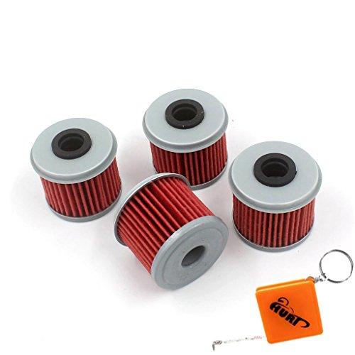 HURI 4pezzi filtro olio per Honda CRF250R/CRF250x (dal 2004al 2016) sostituire Hiflofiltro HF116/K & N kn-116/15412-meb-671/15412-men-671