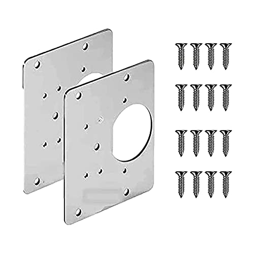 CYJX 2/4 Pcs Cabinet Hinge Repair Plate, Cabinet Hinge Repair Plate with Hole, Bracket Hinge Repair Plate Kit for Protecting Wooden Kitchen Cabinet Door (2pcs)