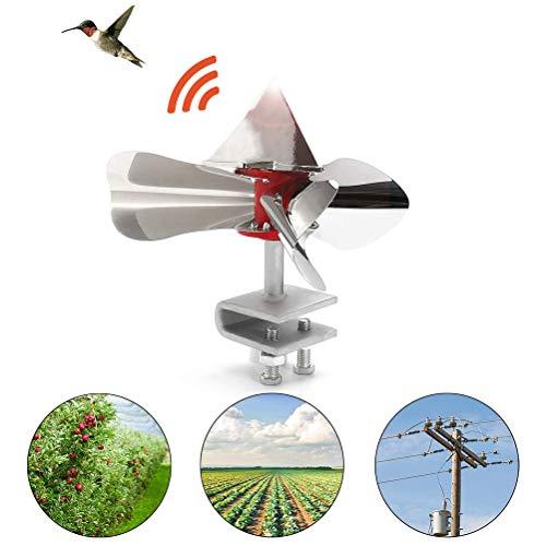 Yuciya Garden Bird Scarer, Acero Inoxidable Wind Power Bird Scarer, Utilizado en Huertos de Jardín para Repeler Pájaros y Controlar Plagas