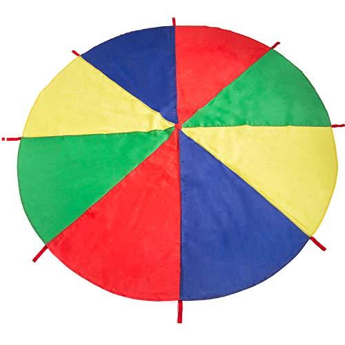 Comius Schwungtuch Klein, 2m Schwungtuch für Kinder und Familie - Bunt Fallschirm Parachutes Spielzeug
