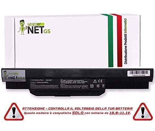 New Net - Batería para ASUS A32-K53 A41-K53 K53E K53S K53SV A53E A53S X53S X54H 07G016H31875 A43S X44H K53SD A53 A54 K53 A54C A42-K53 - Alto Rendimiento 5200mAh