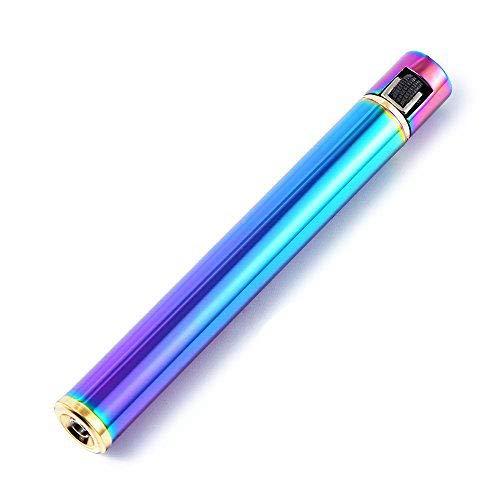 yusud Cigarette Shaped Butane Lighter with 3 Back-up Flints for Men, Women, Lady (Color)