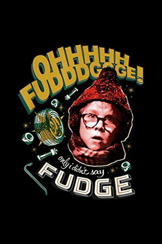 A Christmas Story Oh Fudge! Notebook: Journal, Lined Notebook, 120 Blank Pages, Journal, 6x9 Inches, Matte Finish Cover