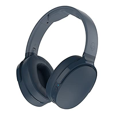 Skullcandy Hesh 3 Bluetooth Wireless Over-Ear Headphones with Microphone, Rapid Charge 22-Hour Battery, Foldable, Memory Foam Ear Cushions for Comfortable All-Day Fit, Blue from SKULLCANDY