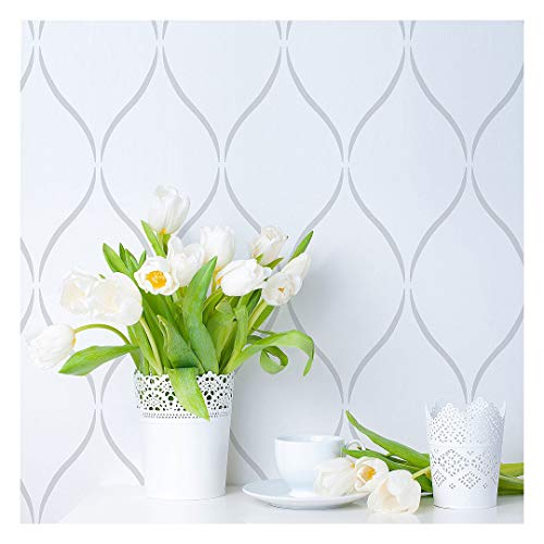 Serenity Allover Stencil - Large Stencils for Painting Walls – Try Stencils Instead of Wallpaper – Modern Stencils for Wall Painting – Stencil Designs for DIY Home Décor - (Size Large)