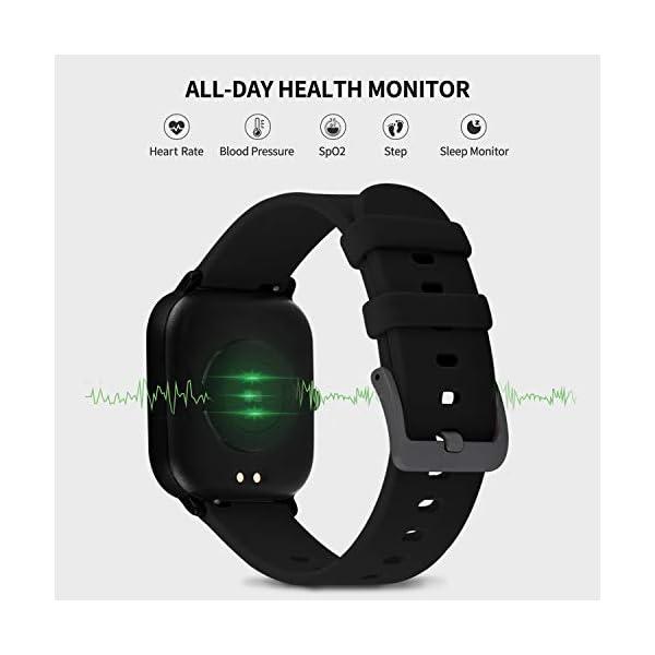 Smartwatch Mujer,Relojes Inteligentes Hombre para Android,Pulsera Actividad Inteligente de 1.3 Pulgada con Monitor de… 4