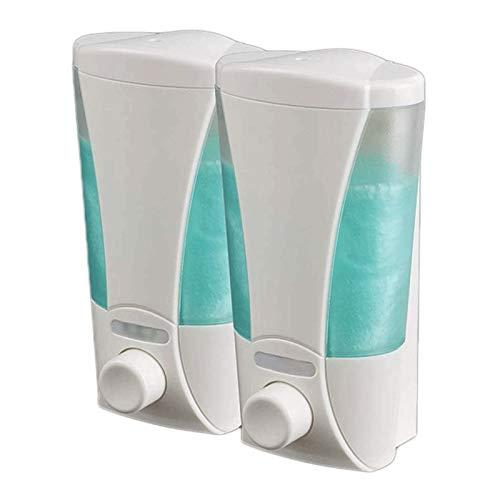 Dispenser di sapone liquido per le mani ricaricabi Distributore di sapone e shampoo da bagno a muro di sapone e dispenser per sapone per sapone a mano rifinibile per cucina e bagno Distributore di liq