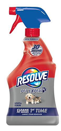 Resolve Pet Carpet Spot & Stain Remover Spray, 22oz (Pack of 2)